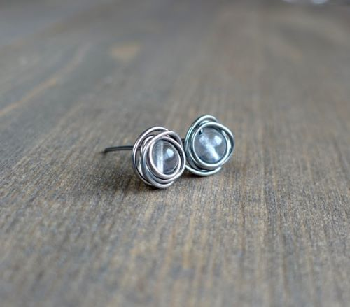 How To Make Stud Earrings Out Of A Bead