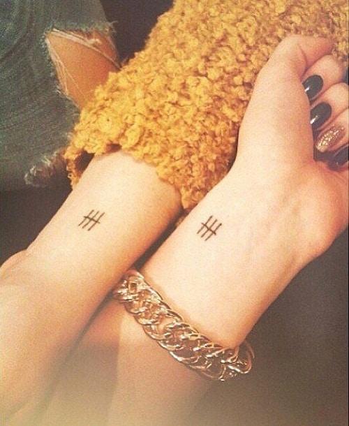 Little Lines Friendship Tattoos