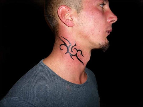 Neck Tribal Tattoo