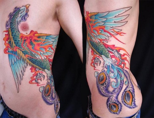 Phoenix Side Tattoo