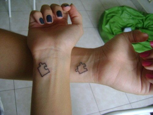 Puzzle Pieces Best Friend Tattoos