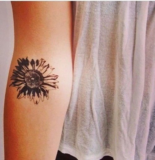 Small sunflower Tattoo on Arm