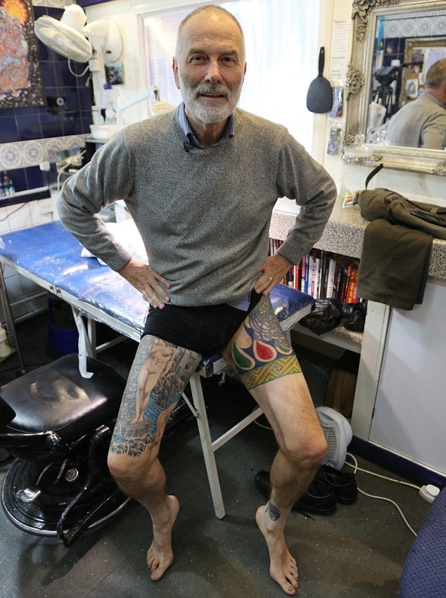 Accountant Full Body Tattoo at Work