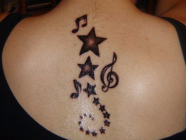 Star Tattoos For Womens Back