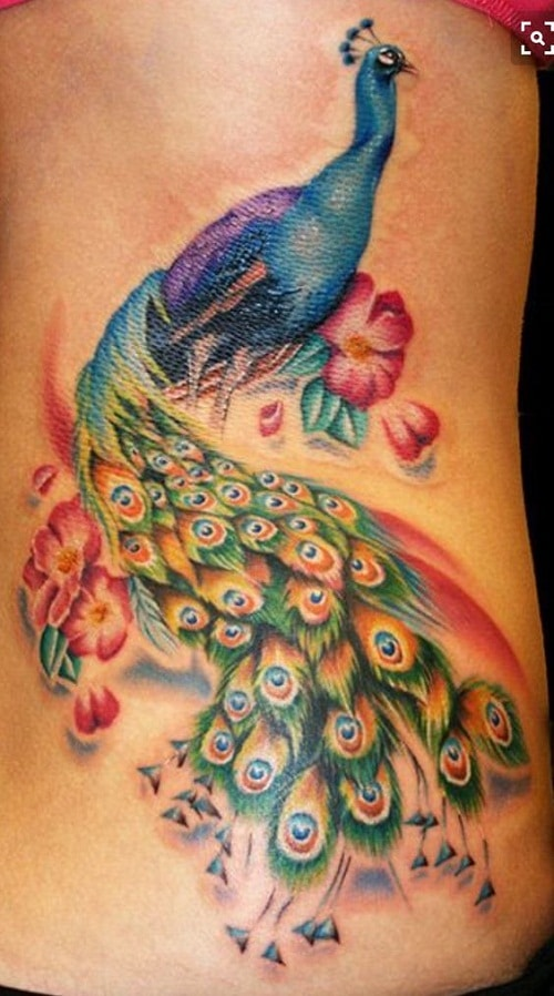 Beautiful And Amazing Peacock Tattoo
