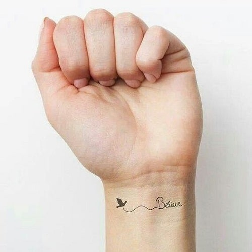 Believe With Dove Tattoos