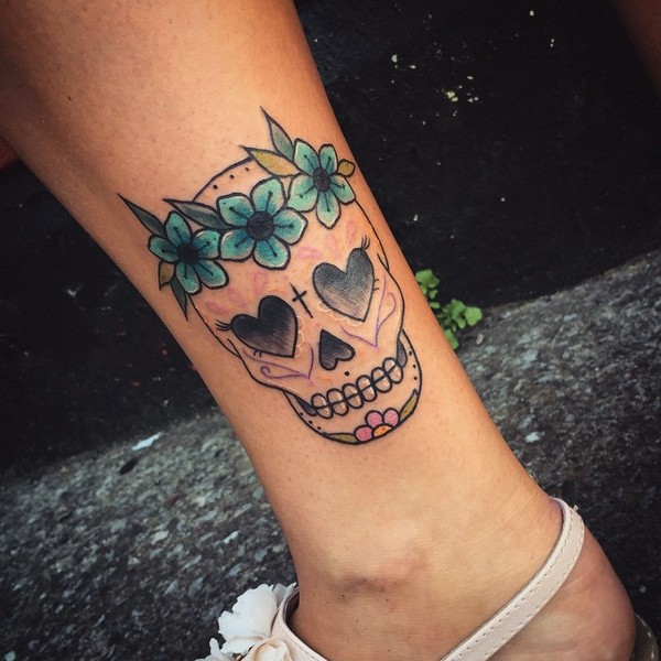 Candy Skull Tattoo Designs