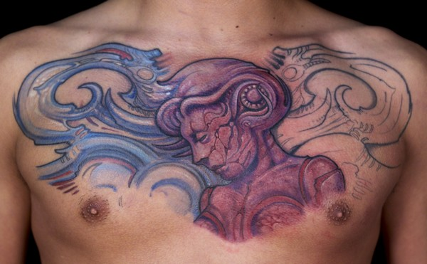 Chest Back Tattoos