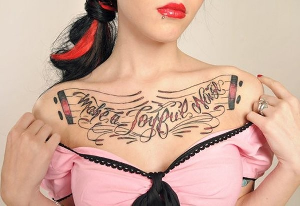 Chest Tattoo For Women