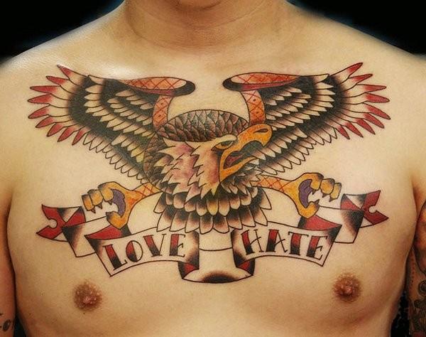Eagle Tattoo Chest
