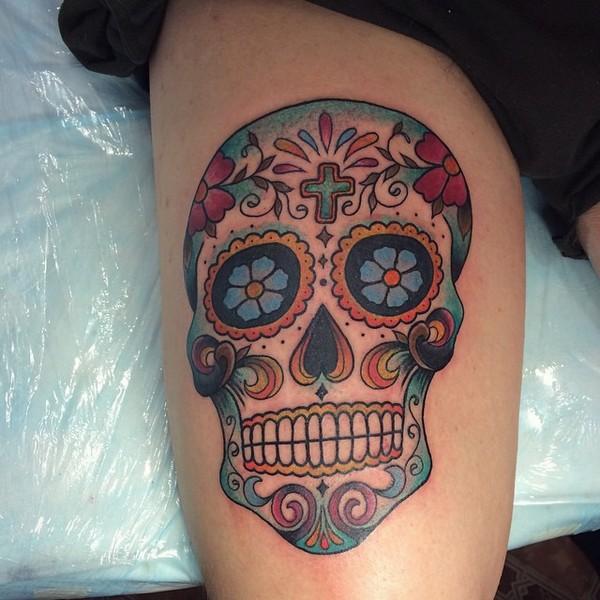 Female Sugar Skull Tattoos
