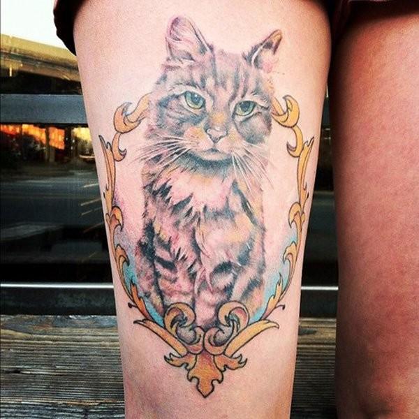 Flower Thigh Tattoo