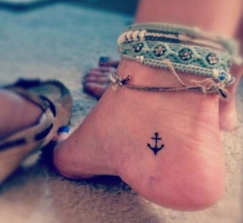 Foot Anchor Tattoos