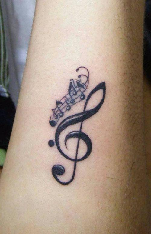 The 25  best Music note tattoos ideas on Pinterest | Music tattoos ...