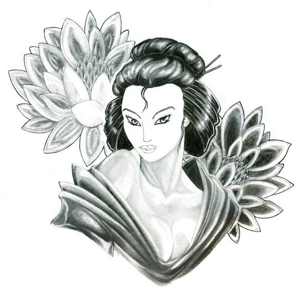 Geisha Tattoo Forearm