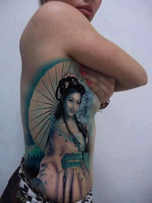 Geisha Tattoo Outlines