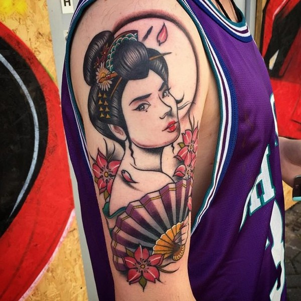 Geisha Tattoo Sleeves