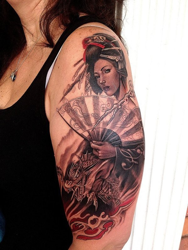 Geisha Tattoos Images