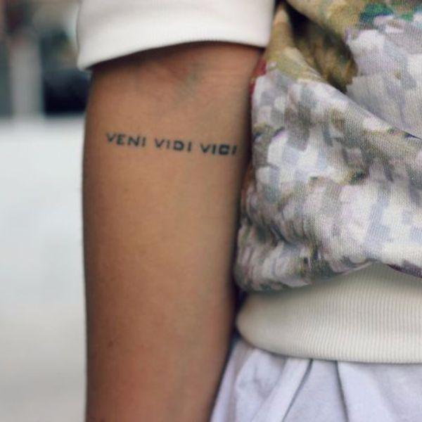 Small Veni Vidi Vici tattoo