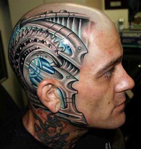 Head Tattoo Designs For Men