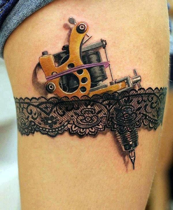 Inner Thigh Tattoo