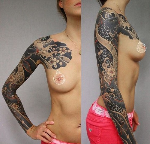 Koi Japanese Tattoo Sleeve