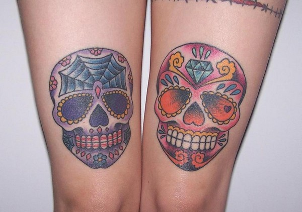Legs Sugar Skull Tattoo
