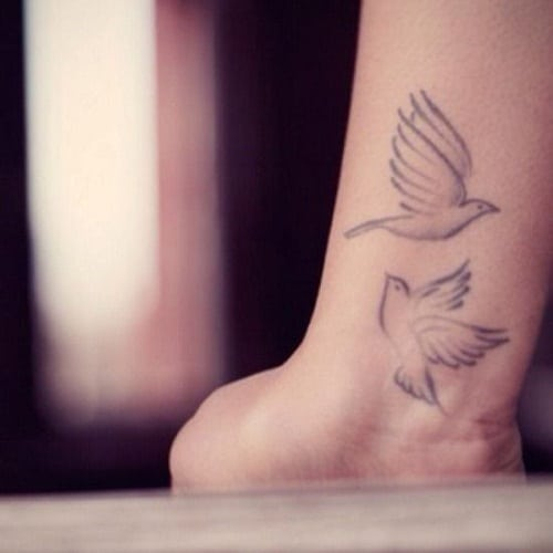 Lover Dove Tattoos