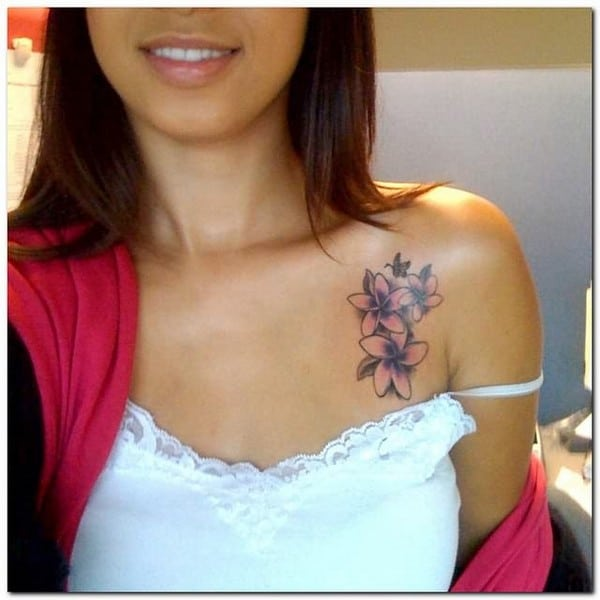 Orchid Flower Tattoo On Chest