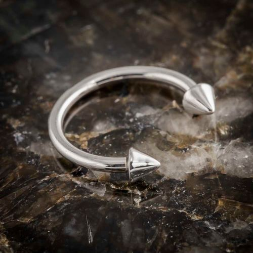 Horseshoe Ring for Tongue Web Piercing
