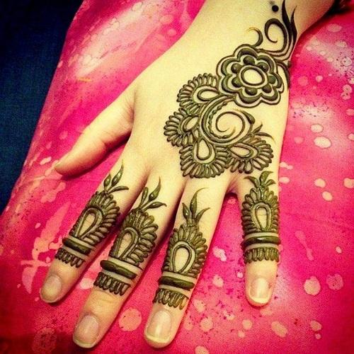 Decorative Hand Arabic Mehndi Designs