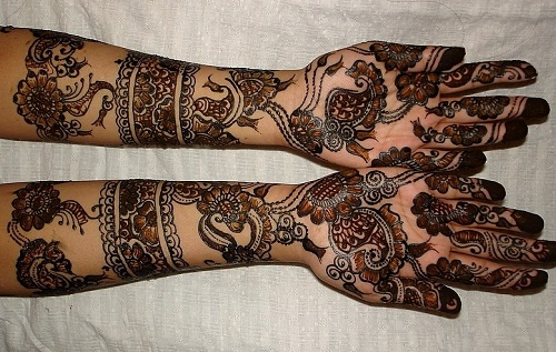 Brown and Black Eid Bridal Mehndi Designs