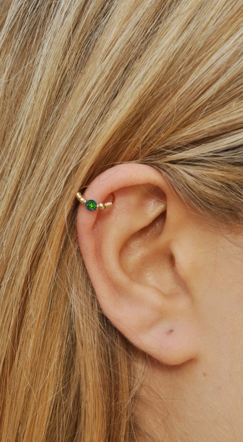 Double Gold Helix Ring