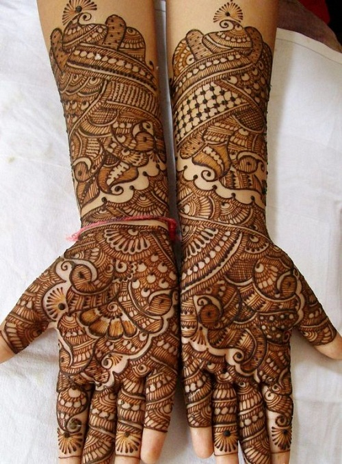 Latest Full Hand Bridal Mehndi Designs