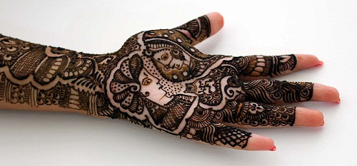 Loving Couple Bridal Mehndi Designs