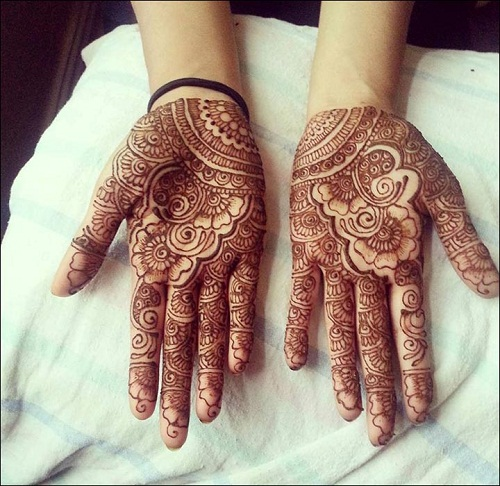 Rose Bridal Mehndi Designs
