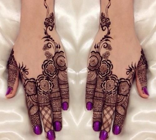 Roses Bridal Mehndi Designs