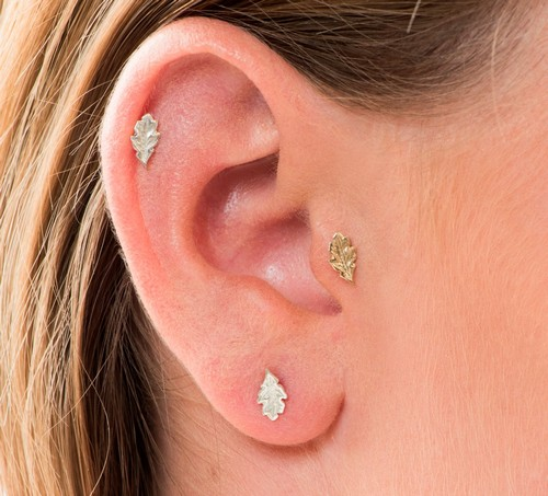Unique Gold Spiral Helix Earring