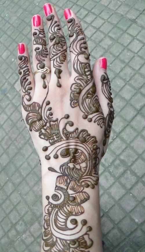 Modern Hand Arabic Mehndi Designs