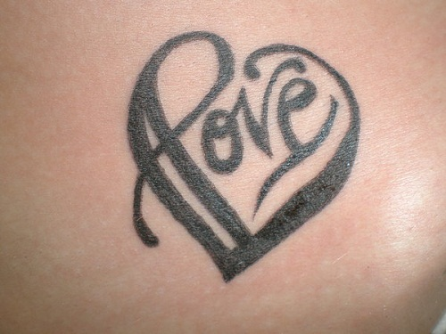Solid Love Heart Simple Mehndi Designs