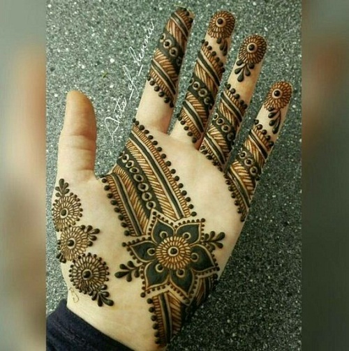 Mehndi For Palm : Latest simple arabic mehndi designs piercings