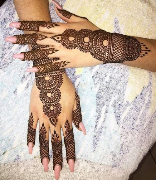 Veil and Tower Arabic Mehndi Tattoo