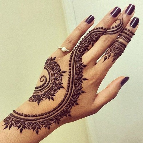 Well-Detailed Arabic Mehndi Designs