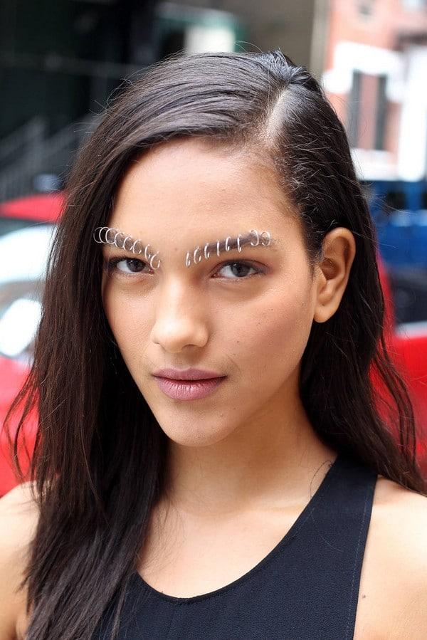 Multiple Eyebrow Piercings