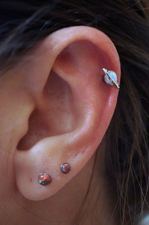 Saturn Opal Tragus Earring