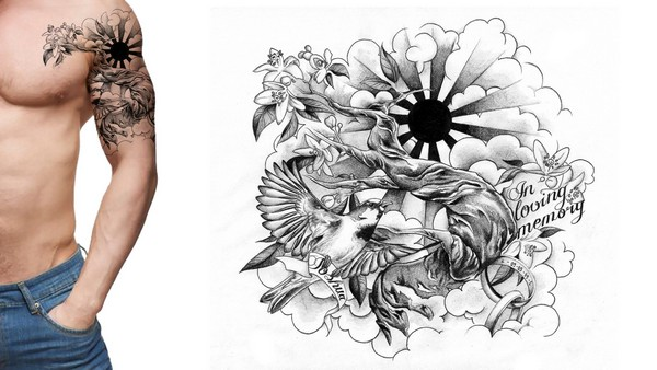 Half Sleeve Tattoo Drawing Designs