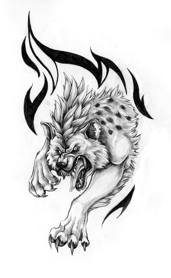 Hyena Tattoo Designs