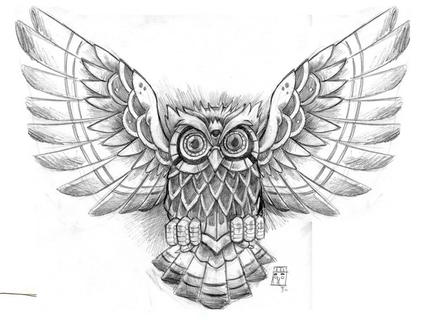 Owl Tattoo Designs Drawings