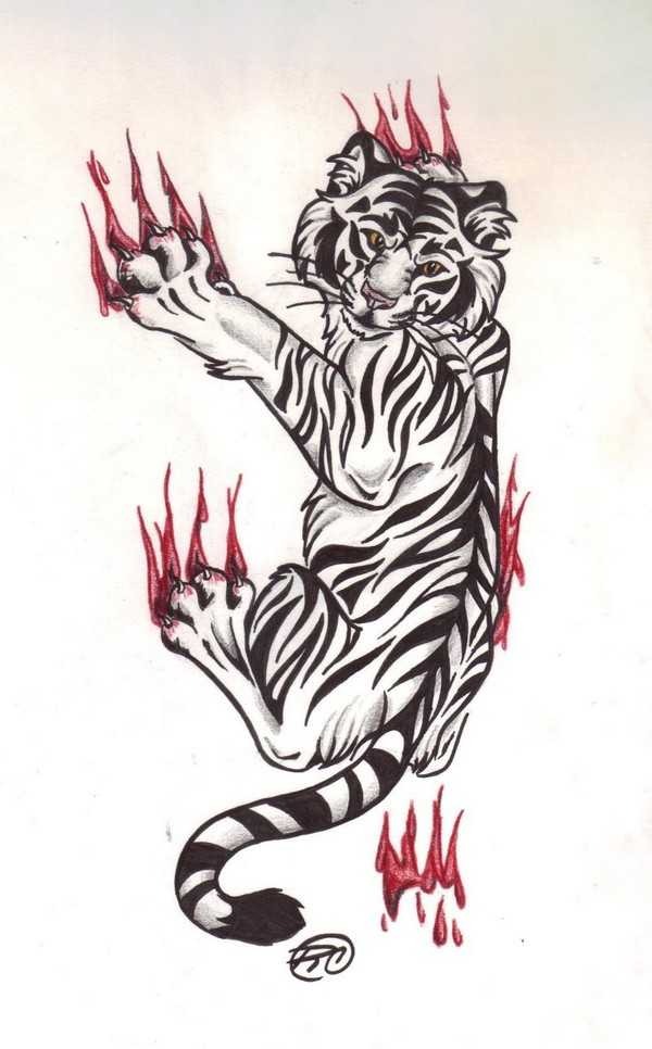 Tiger Tattoo Drawing