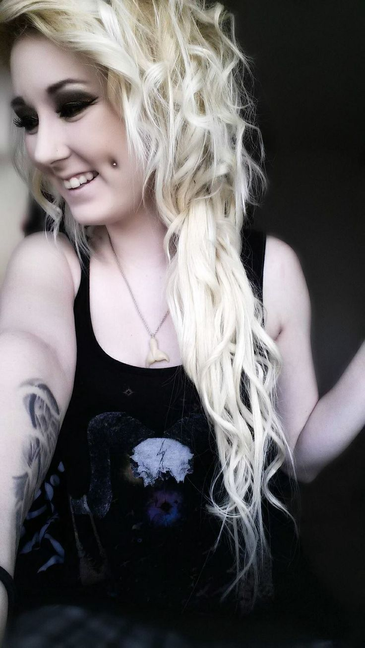 chick with dimple piercing